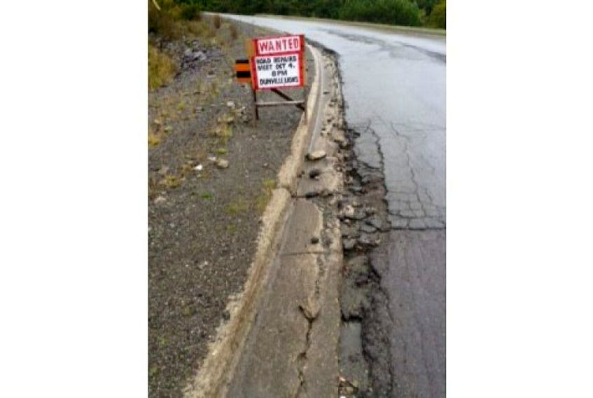 Residents of Dunville are not happy about the state of Route 100 in their community.