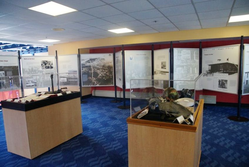 """""""Argentia 1941 – 1995"""" is now on display in the Marine Atlantic Ferry Terminal in Argentia."""