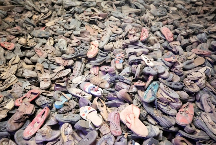 Shoes of murdered prisoners displayed at the Auschwitz-Birkenau Memorial and Museum, Oświęcim, Poland. — Reuters file photo