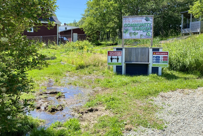 Green space and a community garden located at 28 Eric St. are proposed for a revamp with affordable housing and funds to revitalize the garden, but not all area residents are happy with the plans. -KEITH GOSSE/THE TELEGRAM