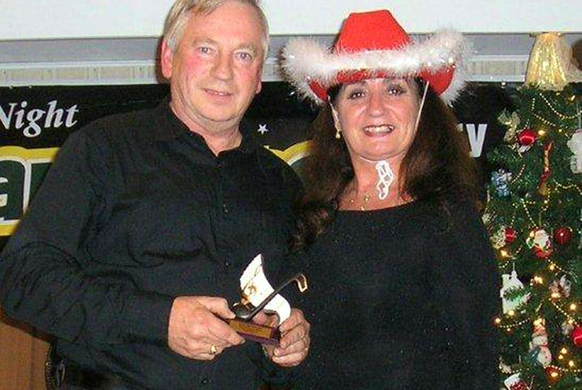 Host Judy MacLean and special guest recording artist Lester MacPherson are shown at a previous Christmas fundraising event for the QEH. SUBMITTED PHOTO