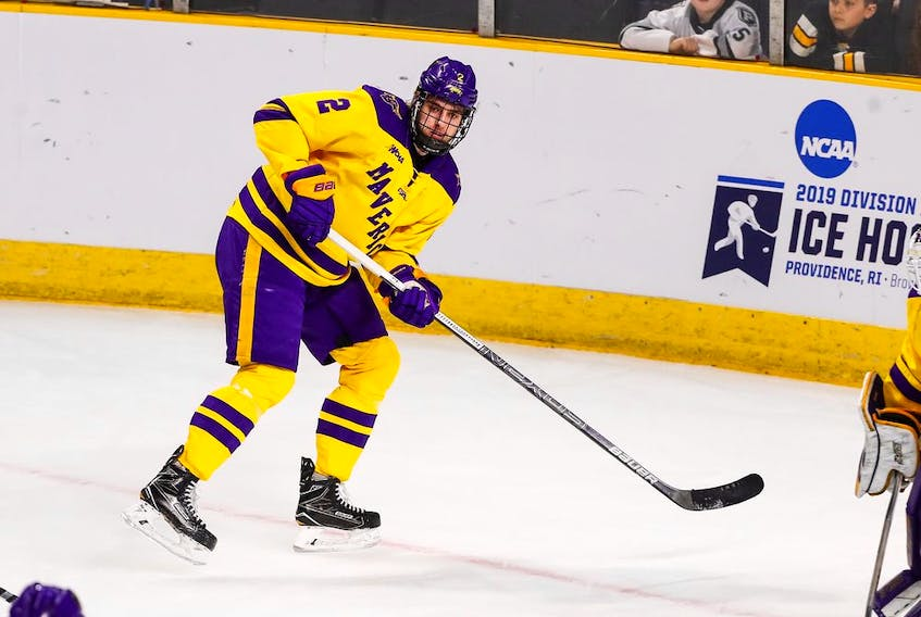 The Calgary Flames have signed defenceman Connor Mackey, who spent the past three seasons with the NCAA's Minnesota State University Mavericks. (Courtesy of MSU Athletics)