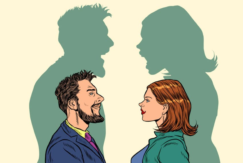 couple argue stock illustration