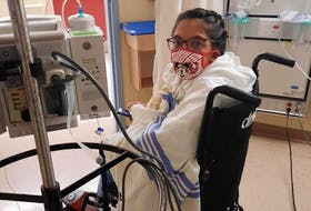 Tahlia Ali, 16, at the Hospital for Sick Children in Toronto preparing for a double-lung transplant and heart surgery. After the pandemic delays, Ali finally received new lungs on Nov. 16.