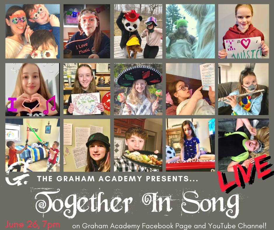 Graham Academy students in Corner Brook are working on material now for on online variety show on June 26.