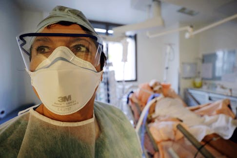 """Doctors are looking for markers to predict the likelihood of """"critical events"""" and death from COVID-19 — signs, like fast breathing, high blood pressure or elevated proteins in the blood, that someone might go from sitting on the edge of his or her hospital bed eating lunch, to sudden intense distress, to being sedated, and being lost."""
