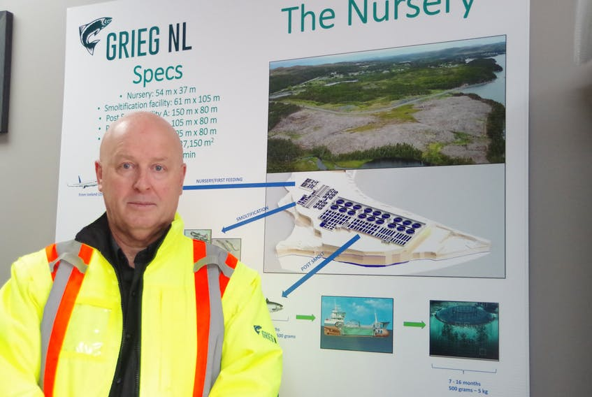 Perry Power, manager of human resources and media relations for Grieg Seafood Newfoundland.