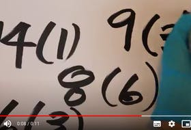 """This is a still taken from video of one of Cape Breton artist Bobby Nock's """"COVID By Numbers (Groups of Seven)"""" series. CONTRIBUTED"""