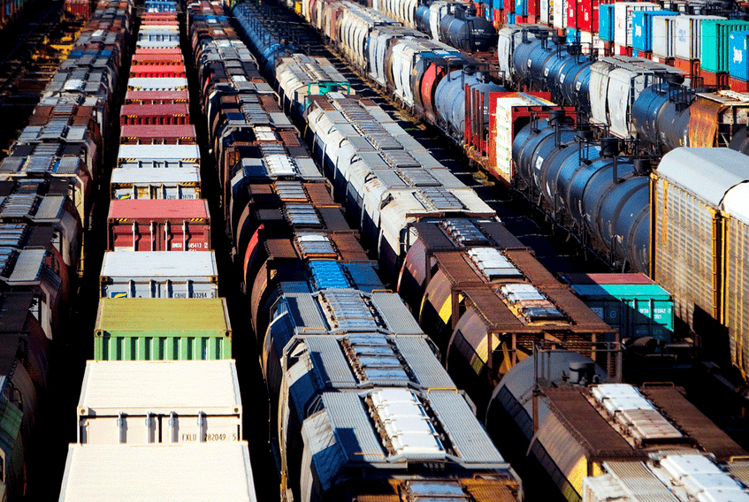 The Canadian Pacific railyard is pictured in Port Coquitlam, B.C. The proposed merger of CP and Kansas City Southern is being touted as a 'stabilizing' deal for the sector.