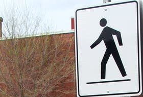 Generic image of a crosswalk sign for general use.