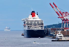 The cruise ship Queen Mary 2 at its berth in Halifax on July 2, 2019.  TIM KROCHAK/ The Chronicle Herald