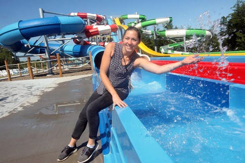 Tara Burgess, manager of Atlantic Splash Adventure, says this is the busiest season she can remember in her six years at the park.