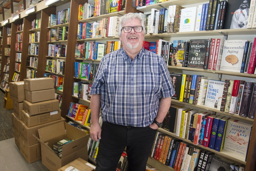 Halifax Bookmark manager Mike Hamm inside the Spring Garden Road store. Ryan Taplin - The Chronicle Herald