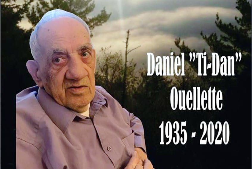 The family of Daniel Ouellette, who was a resident at the Manoir de la Vallée care home in Atholville, NB, announced his death on social media. He was 85.