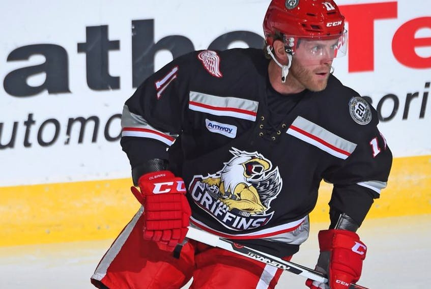 On Friday, Daniel Cleary played for the American Hockey League's Grand Rapids Griffins against the Toronto Marlies at Ricoh Coliseum in Toronto. It was the first AHL game for Cleary in more than 15 years.