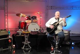 <p>Lakeville resident Darrin Harvey on the set of his new Eastlink TV show, East Coast Music Unplugged. - Submitted</p>