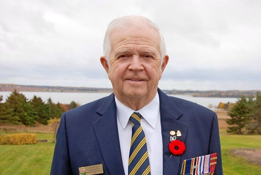 """<span class=""""BodyText"""">David Yeo of Meadow Bank describes his nearly 40 years service with the Canadian Navy as a rewarding and fulfilling career.</span>"""