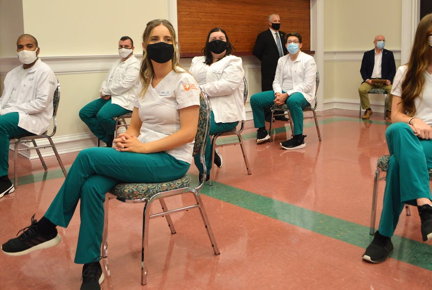 Some of the students in the bachelor of science nursing program at Cape Breton University in Sydney listen as plans for the building a new $80 million Centre for Discovery and Innovation were announced in the fall of 2020. CBU is aiming to bring more diversity to the profession, and has extended the deadline for Indigenous and Black applicants to midnight tonight. CAPE BRETON POST FILE