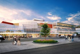 An artist's rendering from Fougere Menchenton Architecture of how Mile One Centre would look if Newfoundland Growlers owner Dean MacDonald purchased Mile One and completed an overhaul of the soon-to-be 20-year-old arena in downtown St. John's.