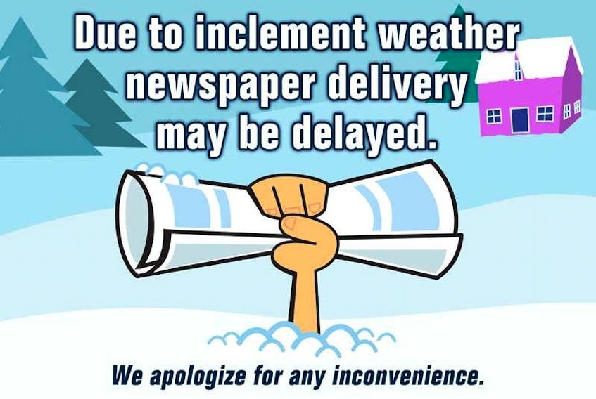 Weather conditions may cause delays in the delivery of your newspaper on Tuesday. Updates will be posted throughout the morning.
