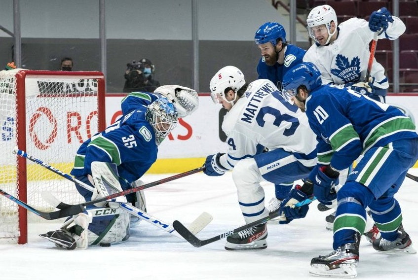 Goalie Thatcher Demko was the big story on Thursday night in Vancouver, stoppping 31 Toronto shots for the Canucks' win.USA TODAY