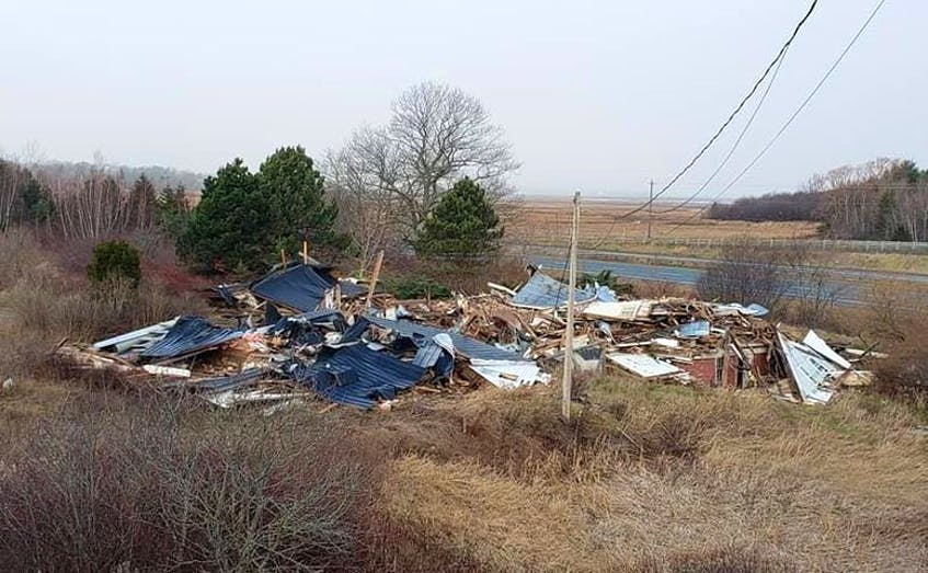 The historic Reid House in Avonport, a designated heritage property, was torn down on Dec. 6. FILE PHOTO - File Photo