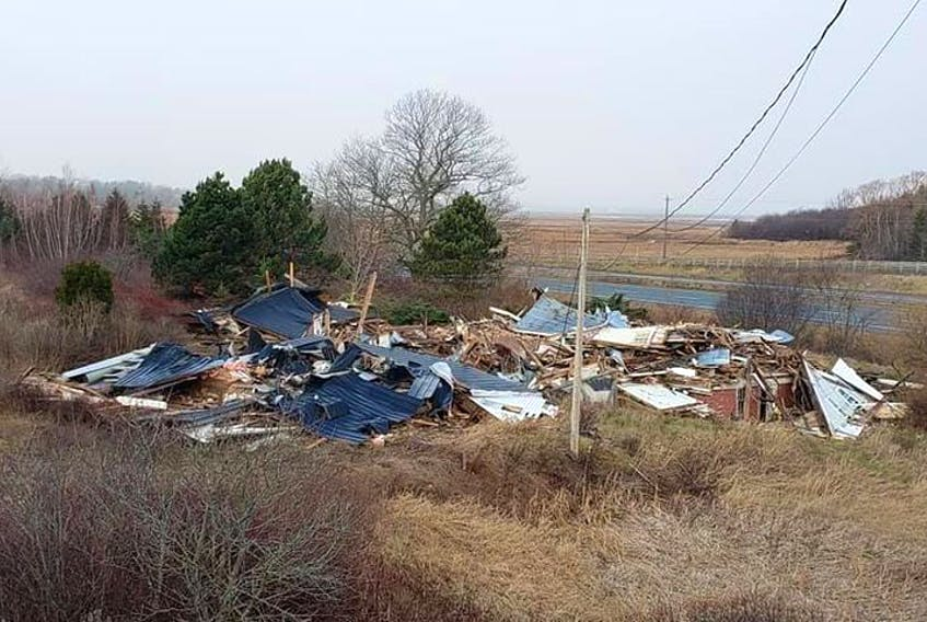 This is all that was left of the historic Reid House in Avonport following its demolition on Dec. 6. CONTRIBUTED