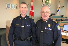 Deputy police chief Robert Walsh, left, has been given the title of Acting Chief to allow him to carry out the duties and responsibilities of the Cape Breton Police Service's top cop while Chief Peter McIsaac, right, is off on leave. Walsh has been filling in for McIsaac for the past several months. DAVID JALA/CAPE BRETON POST