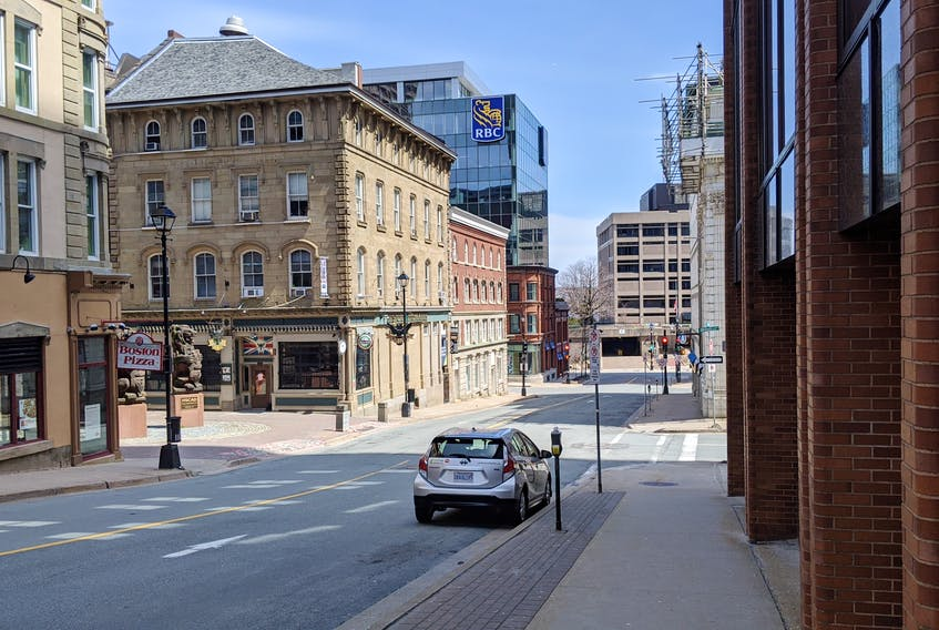 Downtown Halifax is deserted on Sunday April 26 amid the COVID-19 pandemic. - John McPhee