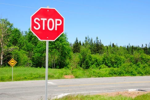 A stop sign was replaced June 5 at the intersection in Dingwells Mills. However, nobody knew the missing stop sign was a sign that a tragic accident had occured at the intersection.