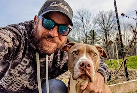 Ed Bowles and his dog Zoe have started the Shelburne And Area Dog Walkers Facebook group to connect with other canine owners to get together for walks, hikes and pet playdates. Contributed