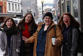 Mom's Girls, an all-female comedy troupe based in St. John's, are (from left) Andie Bulman, Elizabeth Hicks, Stef Curran and Allison Kelly. — Andrew Waterman/The Telegram