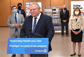 Premier Doug Ford didn't mince words during a briefing on Friday, March 26, 2021, when he harangued Prime Minister Justin Trudeau for an inconsistent delivery of vaccines to Ontario that is making it difficult for provincial health officials to get shots in arms.