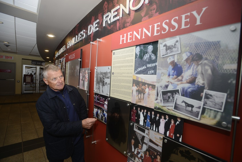 Wally Hennessey looks over the section on his family at Red Shores at the Charlottetown Driving Park.  - Jason Malloy
