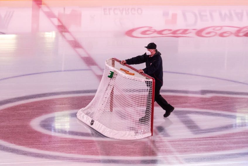 The Canadiens game against the Edmonton Oilers Monday night at the Bell Centre was the first this season in the all-Canadian North Division to be postponed because of COVID-19 protocols.