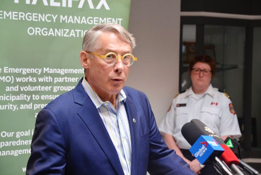 Jacques Dube, chief administrative officer of Halifax Regional Municipality, delivers a crisis update in March.