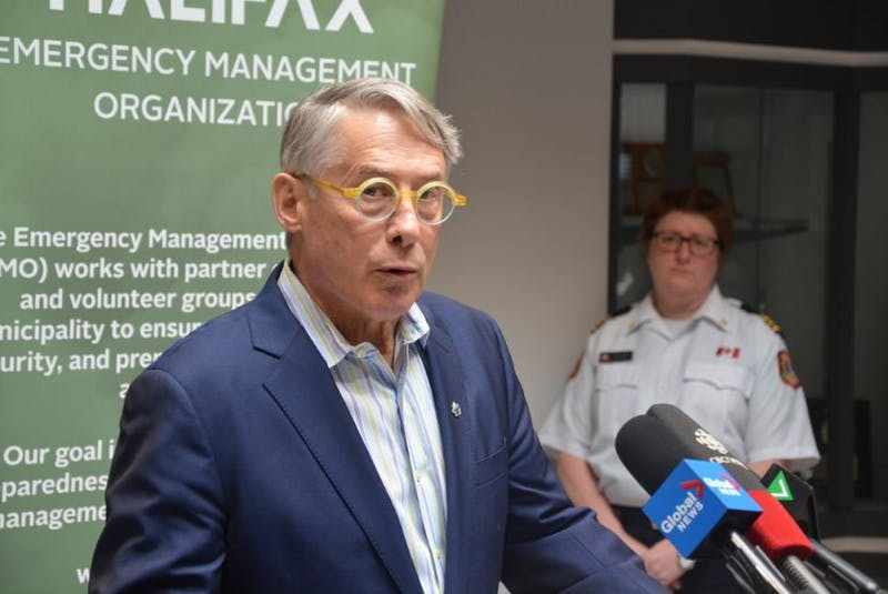 Jacques Dube, chief administrative officer of Halifax Regional Municipality, delivers a crisis update in March 2020. - Francis Campbell