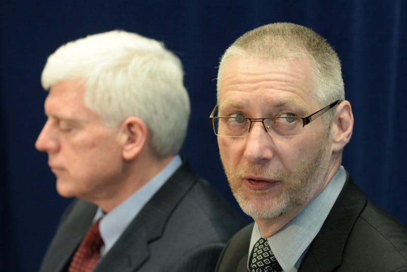 Ed Martin and Gilbert Bennett. — Photo by Keith Gosse/The Telegram