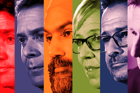 Elizabeth-May-Jagmeet-Singh-Justin-Trudeau-Andrew-Scheer-Maxime-Bernier-Yves-Francois-Blanchet-federal-election-2019