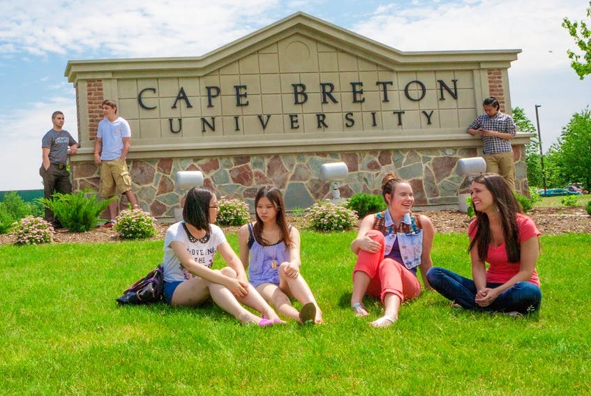 This file photograph shows students on the campus of Cape Breton University. The head of the post-secondary institution's students' union is calling on the province to help international students who are currently ineligible for financial assistance under the federal government's new Canada Emergency Student Benefit. DAVID JALA/CAPE BRETON POST