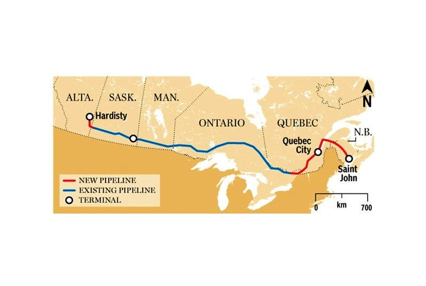 Proposed Energy East pipeline