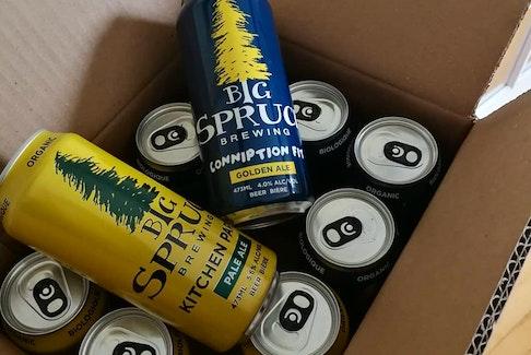 Big Spruce Brewery in Baddeck has seen growing sales online.
