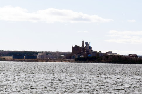 Northern Pulp as seen from Pictou. The mill has sat idle since January 2020.