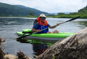 Cape Breton Post reporter David Jala recently took to the waters of the Margaree River with several friends on a kayaking trip that proved to be somewhat of an epic adventure for the longtime scribe. Contributed/Michael