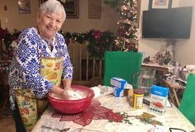 Sheila Morris, 69, from Eskasoni was taught how to make traditional Mi'kmaq meat pies from her mother and she is passing the skill on to her daughter. For holidays, Shelia said she makes the pies from pork and keeps it plain, the way everyone she knows likes it. NICOLE SULLIVAN/CAPE BRETON POST
