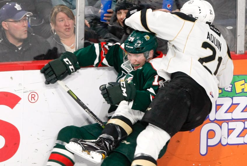 The Halifax Mooseheads hosted the Charlottetown Islanders Thursday in Quebec Major Junior Hockey League action. Photos by Eric Wynne, The Chronicle Herald.