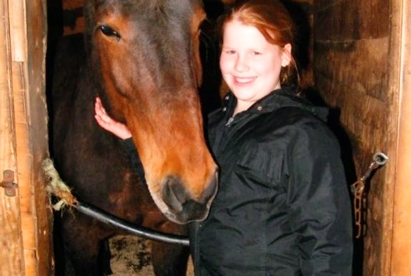 <p>Paige MacDonald is excited to be starting her first riding lessons this spring after having fallen in love with her neighbour's horse, Jenny.&nbsp;</p>