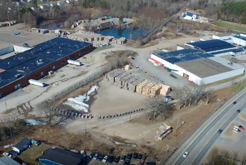 This aerial image of the Scotian Gold facility in Coldbrook was taken from a video shown to Kings Hants MP Kody Blois and federal Agriculture Minister Marie-Claude Bibeau as part of a recent virtual tour. CONTRIBUTED