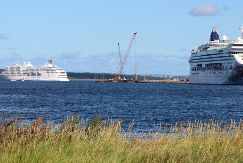 Sydney harbour often hosts several cruise ships daily as illustrated here in September 2019 when the SS Navigator, left, and the Norwegian Gem were in Cape Breton waters. GREG MCNEIL • CAPE BRETON POST