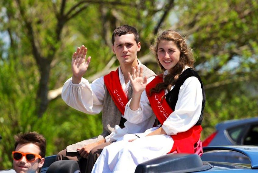 <p>Josanne Deveau and Isaac Comeau last year portrayed Evangeline and Gabriel at the Festival acadien de Clare.</p>